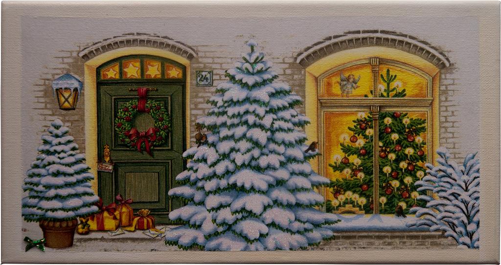 Weihnachtshaus weiss